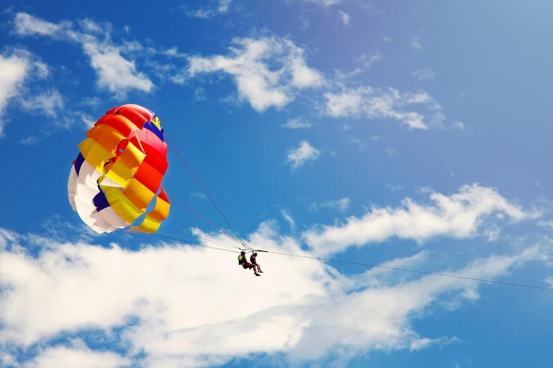 Go parasailing at pine knot marina.